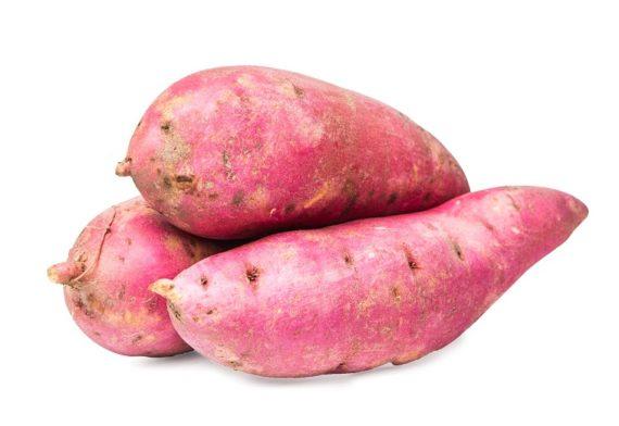 zoete aardeppel roze