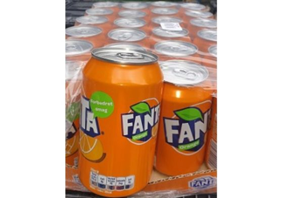 Fanta orange tray